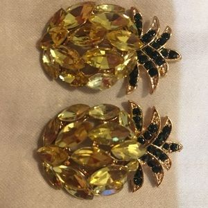 Large Pineapple earrings. Free with 75 purchase
